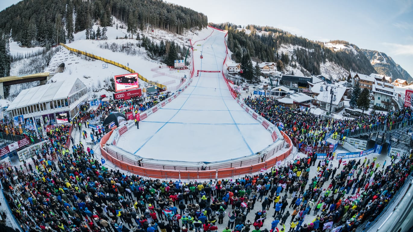 We'll get you on the slopes: Take part in the Audi FIS Ski World Cup in Val Gardena!